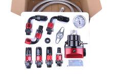 Universal Adjustable Fuel Pressure Regulator KIT 100psi  AN 6 Fitting Black Red