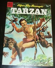 Edgar Rice Buttoughs' TARZAN 70vf- 7.5, 1955, DELL Painted Cover, Golden Age