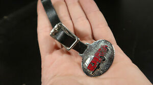Watch Fob With Leather Strap with Enameled Fire Engine Pumper Truck