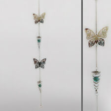 TWIN Farfalla & Argento a Spirale in Metallo Decorazione da appendere casa giardino SUN Catcher 24455