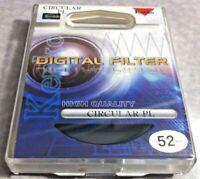 52mm Digital CIRCULAR POLARIZER PL Lens Glass FILTER CPL 52 mm Japan Kenko CIRPL