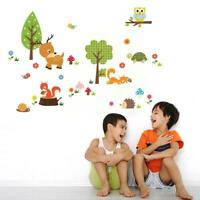 Removable Cute Zoo Animals Wall Sticker Decal For Kids Baby Room Decor Top