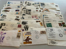 Super Lot of 100 US First Day Covers FDC Cacheted U/A With Bonus