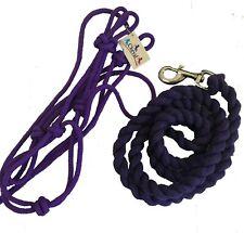Horse Pony Purple Rope Halter Headstall & 6ft Rope Lead SET  In Pony Cob & Full