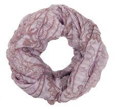 Loop Schal rosa braun pastell by Ella Jonte Blumen Design tube Baumwolle Viskose