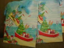 "HOLIDAY MINI GIFT BAGS  LOT OF 10  APPROX. SIZE 4 1/2"" X 5 1/2"" BOAT"