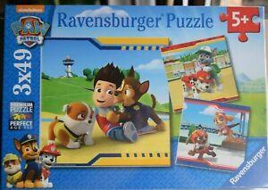 Paw Patrol Ravensburger Puzzle 3x49  3 verschiedene Puzzle Nickelodeon 💥