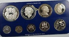 1978 Franklin Mint Jamaica 9 Coins Proof Set with Silver 10$ and 5$