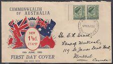Australia Scott 230 Fdc - 1950 Definitive Issue