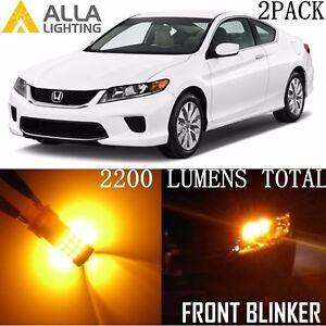Alla Lighting 39-LED Front Turn Signal Light Bulb Amber Yellow Blinker for Honda