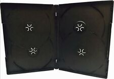 20 pcs Premium Black Quad Multi hold 4 Discs DVD CD Cases, Standard 14mm, QP