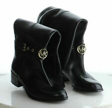 43-48 MSRP $225 Women's Size 7.5 Michael Kors Heather Tall Black Leather Boots