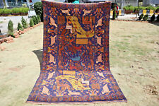 Stunning Tree of Life Pictorial Nomad Carpet,Beautiful Wall Hanging Shikarga Rug