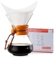 Diguo Classic Glass Coffeemaker Chemex Style Coffee Maker + 40pcs Paper Filter