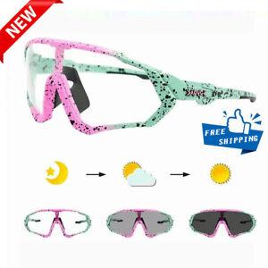 Hot KAPVOE Photochromic Goggles Unisex Road Mountain Bike TR-90 Sport Sunglasses