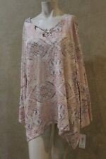 Style Co Printed Bell-Sleeve Top Laughing Medallion XL  ________________ M21C4