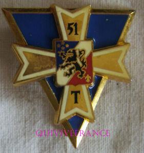 IN19266 - INSIGNE 51° Régiment de Transmissions, bleu foncé