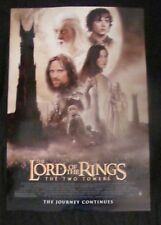 LORD OF THE RINGS TWO TOWERS movie poster PETER JACKSON Original DS One sheet 20