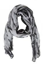 SANDWICH Femmes écharpe en tissu motif impression Noir/Blanc