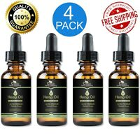 4-PACK Hemp Oil for Pain and Anxiety 5000mg Relief, Stress, Sleep ORGANIC Drops