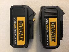 2 New Dewalt 20V Volt Max DCB200 3.0Ah Lithium Ion Batteries Li-ion