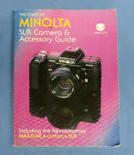 Vintage Minolta Maxxum Dynax Camera Slr Camera & Accessory Guide Book