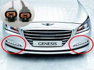 Genuine OEM LED Fog Lamp Light DRL For 2015 2016+ Hyundai Genesis Sedan 3.8, 5.0
