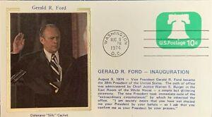 Colorano Silk Inauguration Day 1974 Gerald R. Ford at White House Nixon Resigns