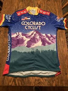 Pearl Izumi Colorado Cyclist Technical Bike Jersey XL Graphic Colorful EXC.!!!