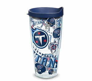 TENNESSEE TITANS, 24oz DOUBLE WALL,  TUMBLER FROM TERVIS  WITH LID INCLUDED