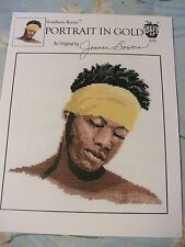 SOUTHERN ROOTS PORTRAIT IN GOLD BLACK MAN~2001~*RARE & OOP~cross stitch graphs