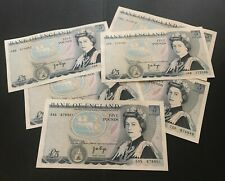 More details for 1970's bank of england five pound £5 note crisp 100% genuine cashier j b page