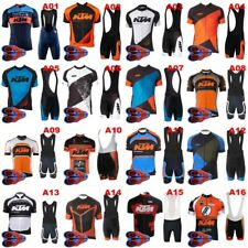 Mens Pro Team Cycling Jersey Set Top bib Shorts MTB Quick-Dry Sportswear Suit