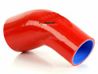 """ID 2.5""""-2.75""""inch 64mm-70mm 45 Degree Silicone Elbow Reducer Joiner Hose RED"""