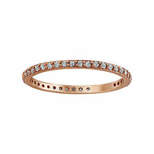 14K Rose Gold 1/3 carat Diamonds Stackable Eternity Band Ring size 7