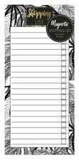 Monochrome Tropical Jungle Magnetic Refrigerator Shopping List Pad Fridge Noir