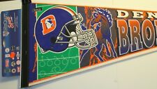 "Denver Broncos 30"" Pennant Full Size New NFL Football Wincraft"