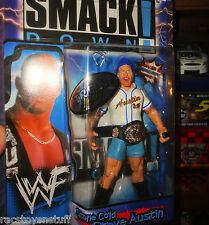 WWE SMACKDOWN TRON READY STONE COLD STEVE AUSTIN WITH BASEBALL CAP AND BELT
