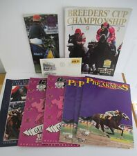 Lot of 9 HORSERACING Programs & FDC; Breeder's Cup; Preakness; Kentucky Derby +