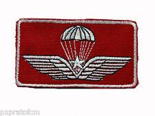 Patch Toppa Brevetto Paracadutista Militare per Operatore Croce Rossa con velcro