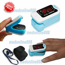 Free Pouch&Lanyard Finger Pulse Oximeter Blood Oxygen SpO2 PR Heart Rate Monitor