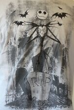 Tim Burton's The Nightmare Before Christmas Jack Skellington Gray S/S T-Shirt L