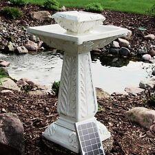 Groß Solar Betrieben Außen Garten Wasserbrunnen Element Teich Vogelbad F1