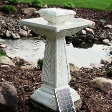Large Solar Ornamental Outdoor Garden Fountain Water Feature Pond Bird Bath