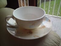 Collectable, Arthur Wood, Fine Bone English China, Cup + Saucer, VGC, FREE-MAIL