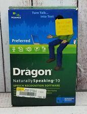 Nuance Dragon NaturallySpeaking 10 Speech Recognition Software