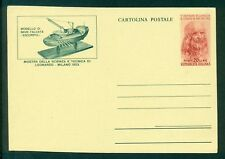 Z588 ITALIA REPUBBLICA 1953 Cartoline Postali Leonardo da Vinci, NUOVE, serie co