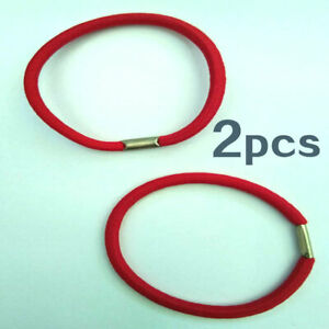 03# Red Rubber Bands Cord Elastic Hairbands Hair Tie Rope x2