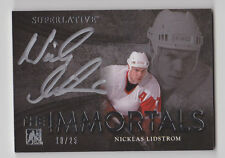 NICKLAS LIDSTROM 2015 Leaf ITG Superlative The Immortals Auto #D 18/25 Red Wings