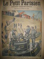NAUFRAGE SOUS-MARIN LUTIN SCAPHANDRIER ETATS-UNIS BANQUET LE PETIT PARISIEN 1906